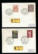 2 Reco-Briefe aus Steyr, Arge Christkindl 1973 und 1974   (H40)