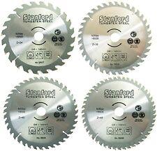 4 HM-Sägeblätter: Ø 160mm (24+36+40+48 Zähne), Kreissägeblatt, Tungsten-Stahl;