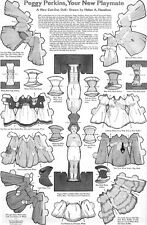 Peggy Perkins Paper Cut-Out Doll HELEN A HASELTON Back & Front 1918 Magazine Pg.