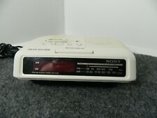Sony Model Icf-C25 Dream Machine White Am/Fm Clock Radio Used Tested Working