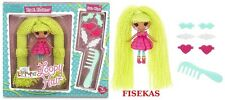 Mini Lalaloopsy Loopy Hair Pix E. Flutters 3 in Doll Yarn 6 Hair Clips Comb NEW