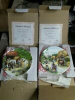"""2 X Royal Doulton """"Old Country Crafts"""" Plate - 'The Thatcher & The Blacksmith"""