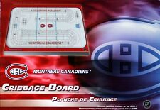 MONTREAL CANADIENS CRIBBAGE GAME ~ RINK SHAPED CRIBBAGE FREE MTL TEAM CARDS
