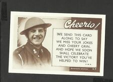 Nostalgia World War 1  Postcard Cheerio