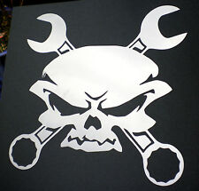 high detail airbrush stencil  skull  crosswrenches FREE UK POSTAGE