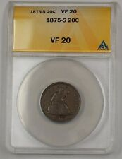 1875-S United States Seated Liberty Silver 20c Coin ANACS VF-20