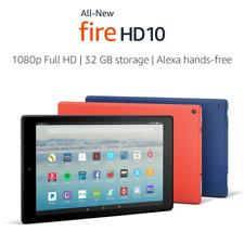 "All-New Fire HD 10 Tablet with Alexa Hands-Free, 10.1"" 1080p Full HD Display, 32"