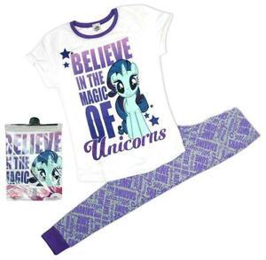 Womens My Little Pony Pyjamas - PJs Believe In The Magic Unicorns Ladies 8-10