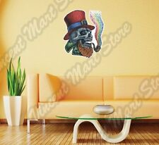 "Irish Leprechaun Skull Smoking Rainbow Wall Sticker Room Interior Decor 20""X25"""