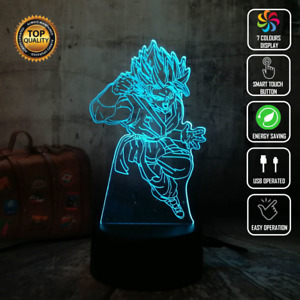 GOKU SAIYAN DRAGONBALL Z DBZ 3D Acrylic LED 7 Colour Night Light Touch Lamp