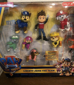 Paw Patrol The Movie Liberty  Joins the Team Figure 8-Pack