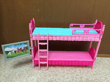 Barbie Sister Stacie Chelsea Skipper Doll Sleeptime Bedroom Bunkbed Bed W TV