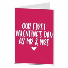 1st First Valentine's Card As Mr & Mrs Newly Married Couple