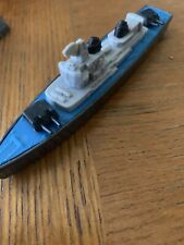"""New listing Vtg Tootsietoy Diecast Destroyer Ship on Wheels Toy * Car Vehicle 5"""" Boat Navy"""