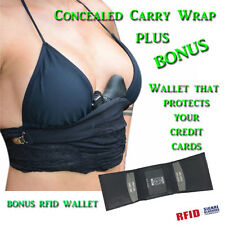 Lethal Lace - Concealed Carry Holster for Women -NUDE + FREE RFID WALLET (Combo)