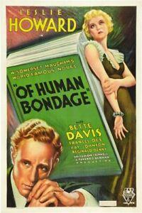 Of Human Bondage - 1934 - Leslie Howard Bette Davis - Vintage Drama Film DVD