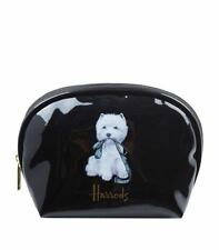 HARRODS FAMOUS WHITE WESTIE WITH LEAD SIGNATURE LOGO MAKE-UP BAG - LUXURY GIFT