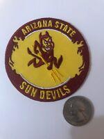 "ASU Arizona State University Sun Devils vintage embroidered iron on patch 3"""