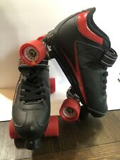 Roller Derby M4 Viper Red And Black Speed Quad Skates Mens Size 10 NICE