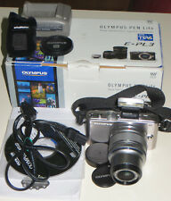 Fotocamera digitale Olympus Pen Lite E-PL3 mirrorless Zuiko 14-42 flash