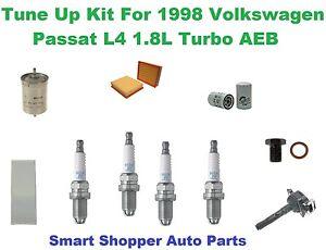 Ignition Coil, Standard Spark Plug, Oil  Air Fuel Filter for 98 Volkswagen L4