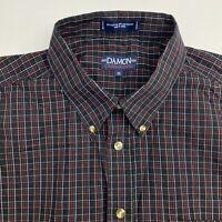 Damon Button Up Shirt Mens XXL Multicolor Plaid Short Sleeve Casual