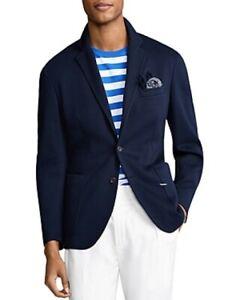 Polo Ralph Lauren Polo Soft Fit Cotton Sport Coat Mens 46R Navy Blue $598