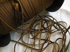biais vintage ruban plat cordon fin marron lacet corsage 10 mètre
