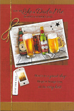 LIKE A DAD TO ME FATHERS DAY CARD PUB BEER THEME,LOVELY VERSE 5.5 X 7.5 INCH(N7