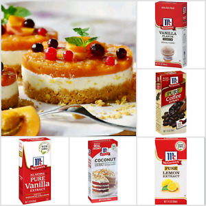McCormick Pure Extract Orange Vanilla Rum etc.Natural Flavour Marinades Desserts