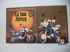 advertising Pubblicità 1986 MOTO SUZUKI DR 600 R DJEBEL