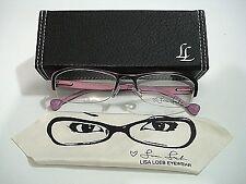 Lisa Loeb Eyewear Wake Up Liquorice Cherry Rimless Eyeglasses Rx-Able Frame