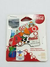 VANCOUVER 2010  OLYMPIC - COCA COLA - DAY 13 BOTTLE PIN  - ON ORIGINAL CARD .