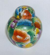 Miniatura Tarro de jengibre (Chino Patrón Floral) Excelente artículo 68mm de altura