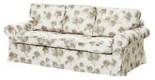 IKEA EKTORP Pixbo Cover Set Only for 3 Seat Sofa Bed Norlida White Beige