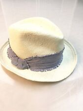Hat Attack Fedora - White with blue accent