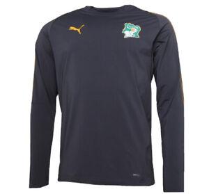 Puma Mens FIF Ivory Coast Training Sweat Asphalt Large