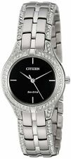 Citizen Eco-Drive Silhouette Series Black Dial Ladies Watch FE2060-53E