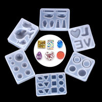 Silicone DIY Mold Resin Pendant Necklace Casting Craft Jewelry Making Tool CH IT