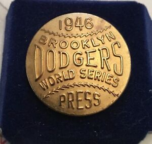 1946 Brooklyn Dodgers Phantom World Series Press Pin