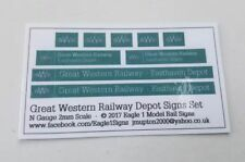 N Scale Great Western Railway GWR Depot Signs Set - Your Choice of Name