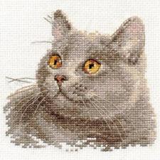 Alisa Cross Stitch Kit-Cat británico