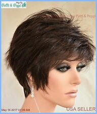 Synthetic Short Hair Wig for Women  Color Cappuccino  Cute Classy Style 1200