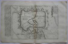 Hagenau Haguenau Grundrissplan Befestigungsanlagen Kupferstich Bodenehr 1720