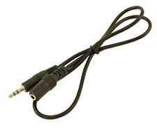 2ft 3.5mm Mini-Stereo TRS Male to Female Audio Extension Cable