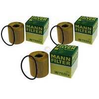3x Original Mann-Filter Filtro de Aceite Hu 711/51 X Filtro de Aceite