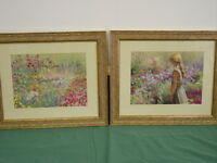 Golden Children Pair of framed art Vinage! Home Interiors Gifts GTC Vintage GTC