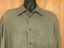 MONDO DI MARCO 16.5 (34-35)ITALY MICRO DOT L/S DRESS SHIRT GREEN///J19