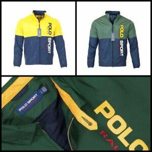 Polo Ralph Lauren Men's Sport Windbreaker, logo Print Zip-Front Panelled Jacket