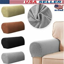 2Pcs Sofa Couch Stretch Armrest Covers Chair Furniture Arm Protectors Slipcovers